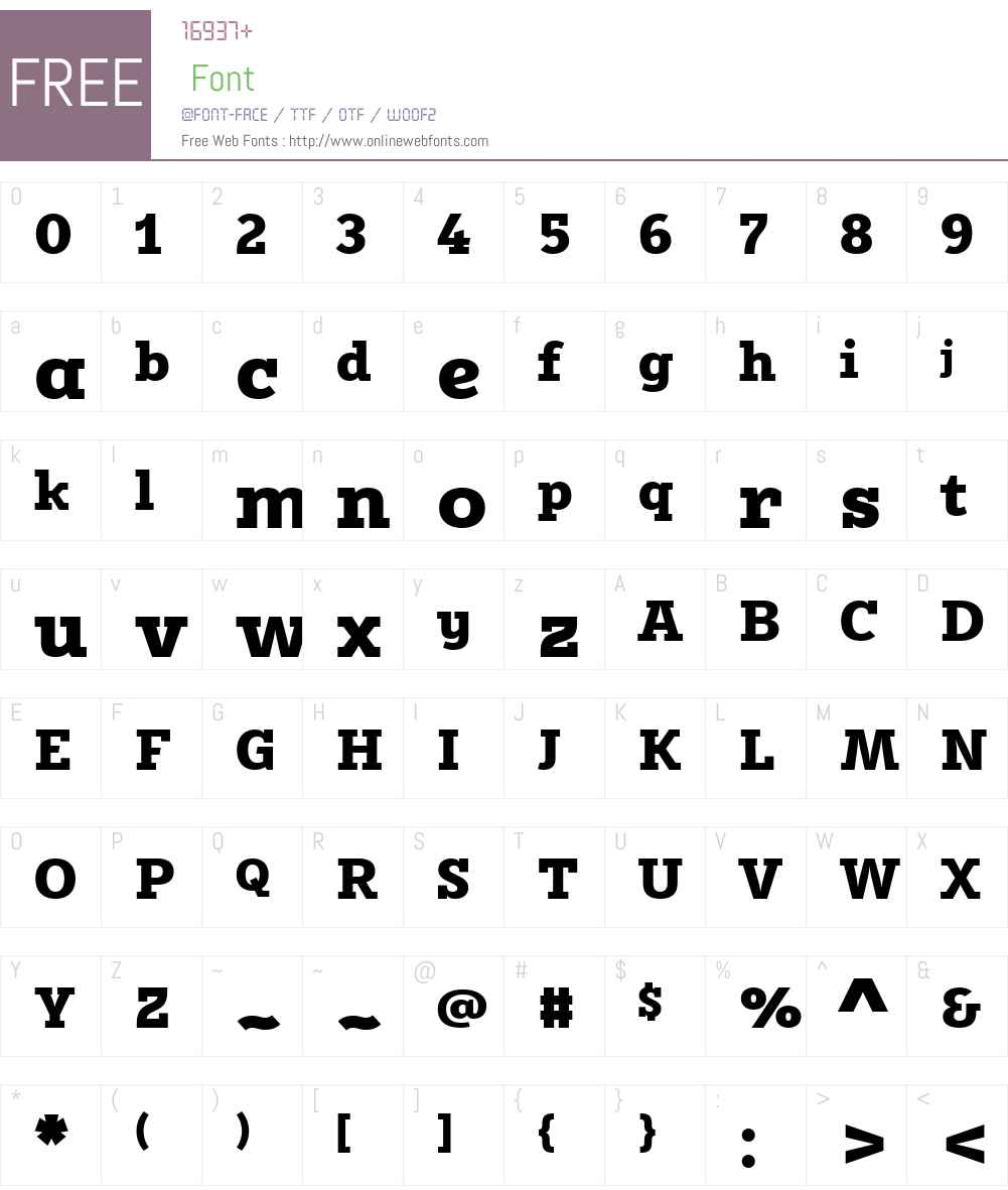 FF Karbid Slab Font Screenshots