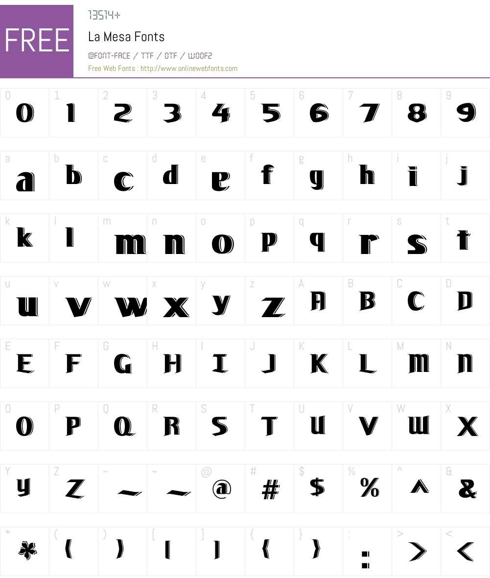 La Mesa Font Screenshots