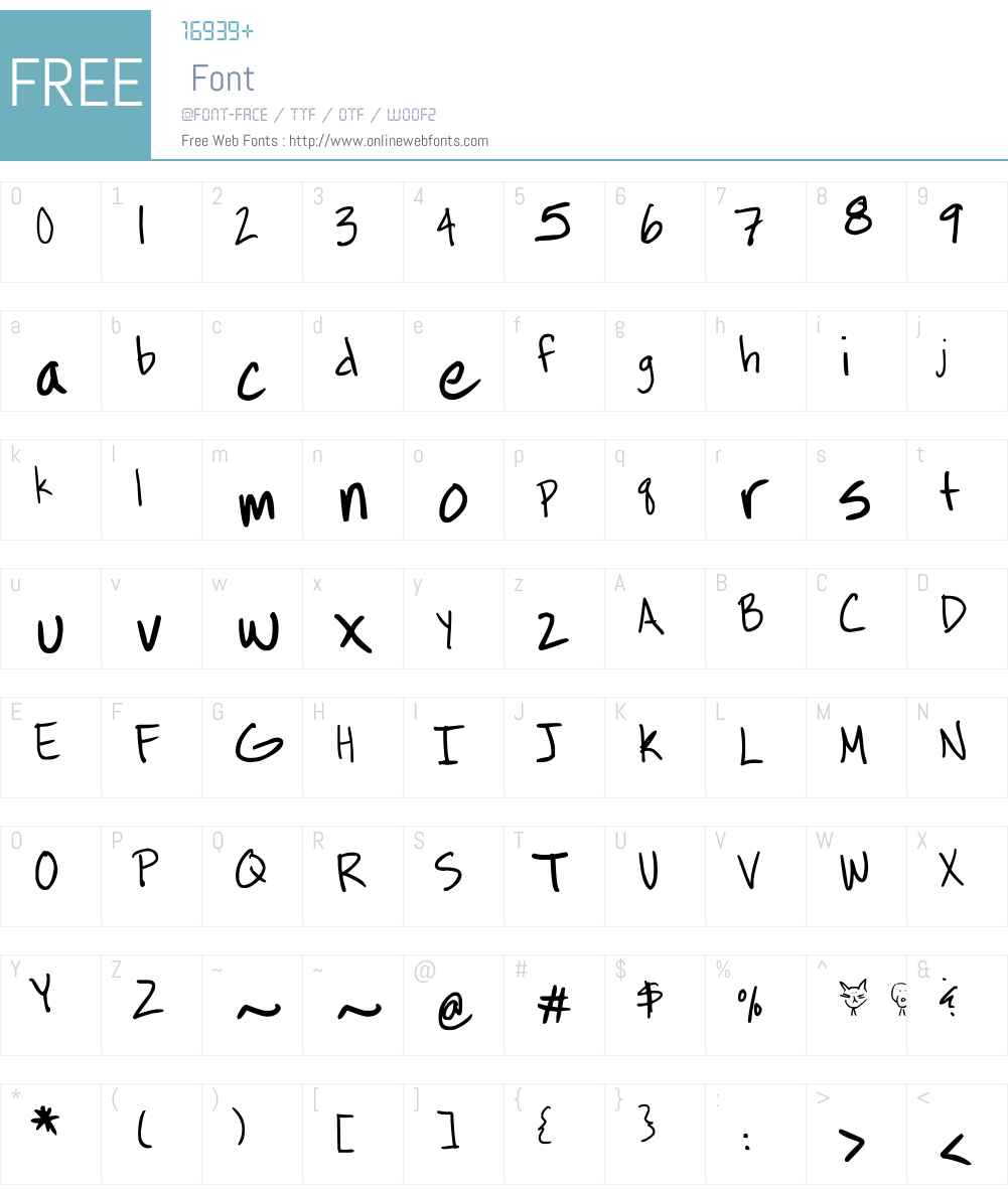 Bees Burts Font Screenshots