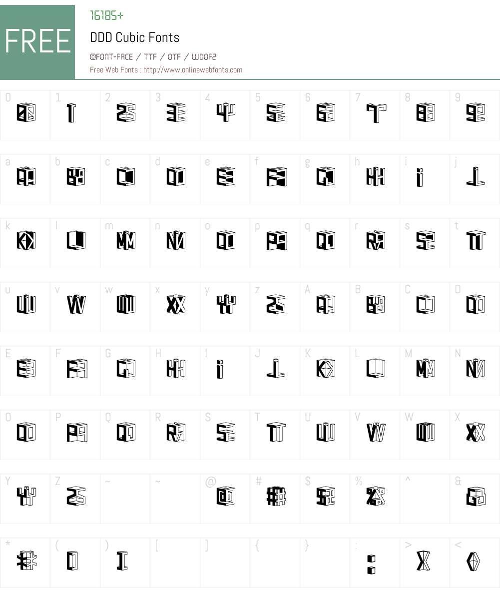 DDD Cubic Font Screenshots