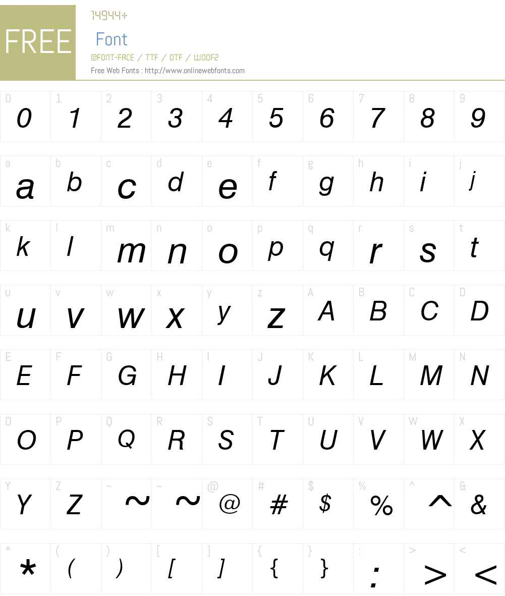 Geneva Font Screenshots