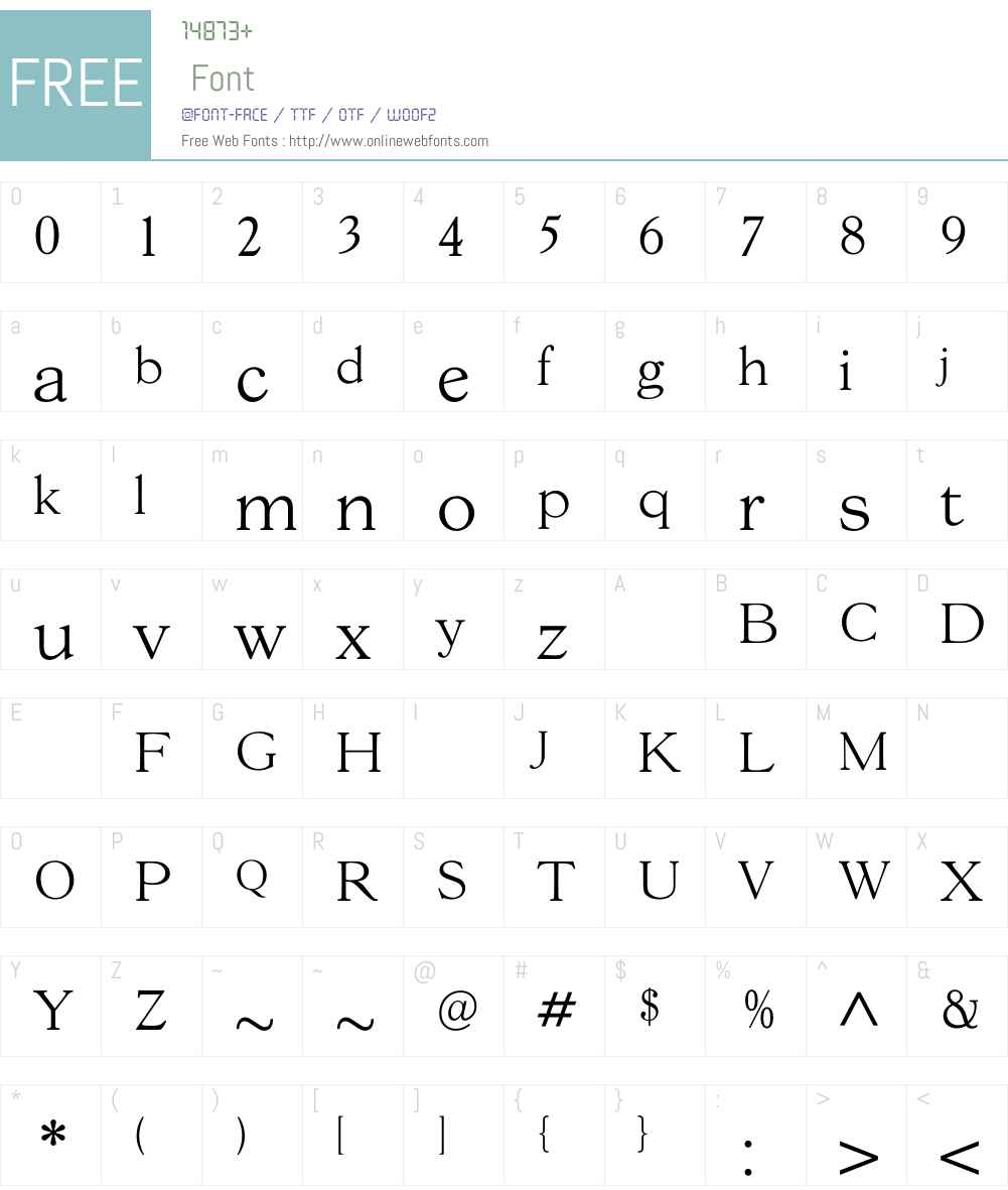 GoudY38Light Font Screenshots