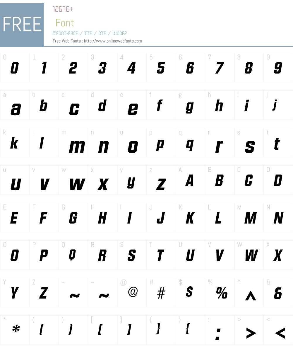 Idiamante Font Screenshots