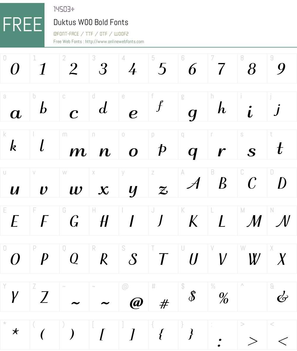 DuktusW00-Bold Font Screenshots