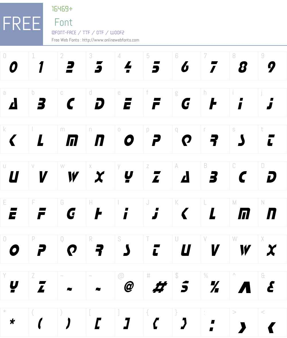 Scottsdale Condensed Font Screenshots