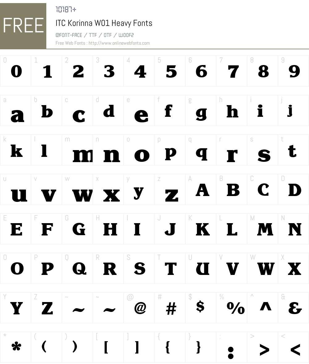 ITCKorinnaW01-Heavy Font Screenshots