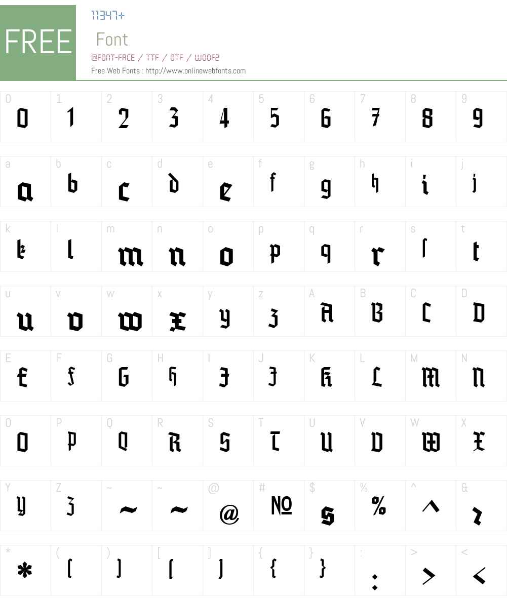 Blankenburg Font Screenshots