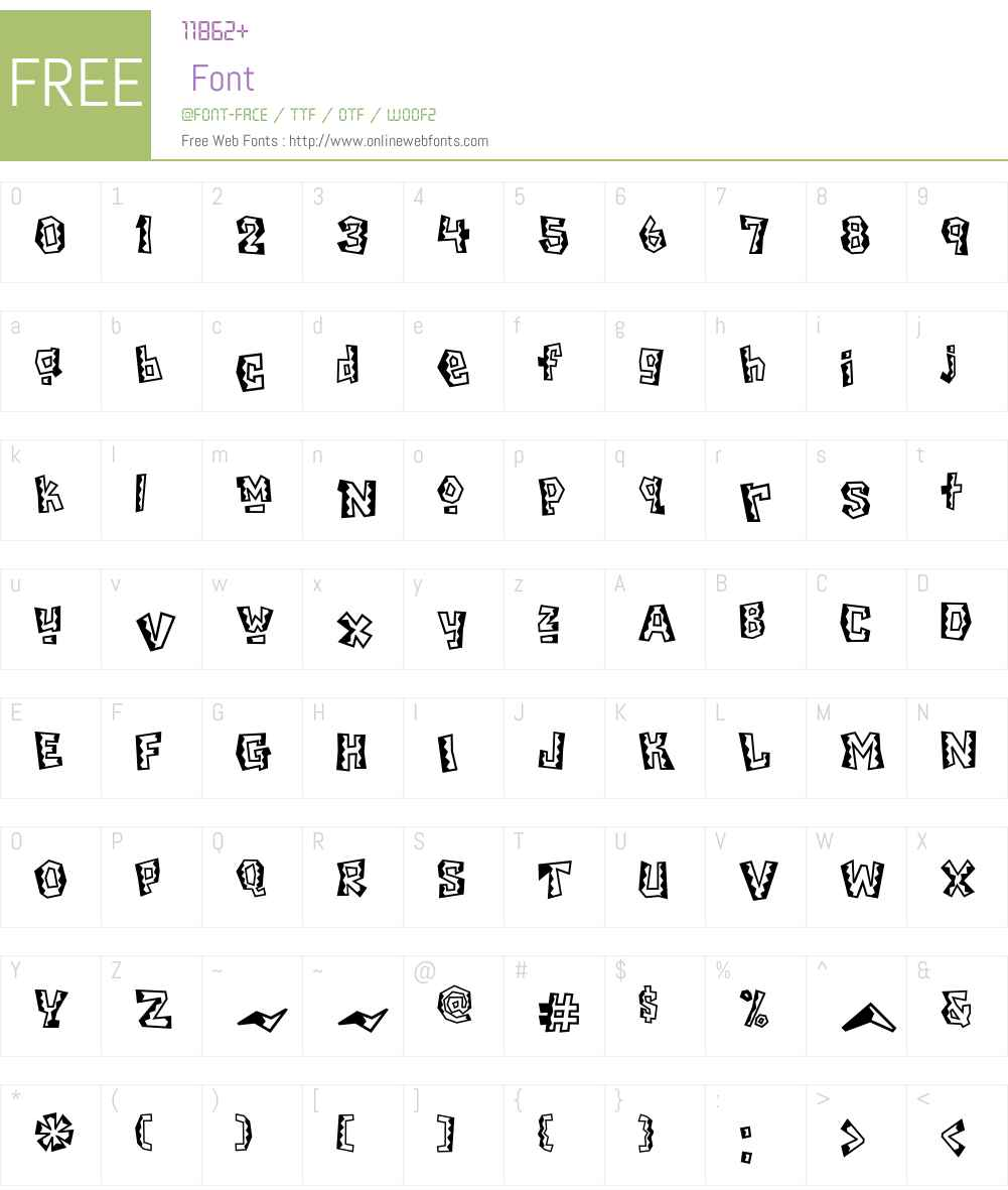 ChiladaICG Font Screenshots