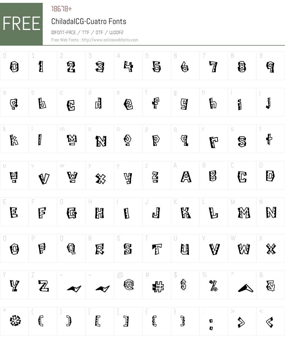 ChiladaICG Font Screenshots