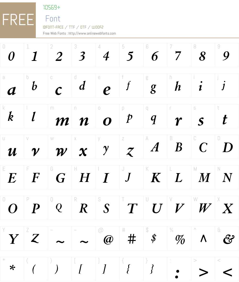 LTCCloisterW01-BoldItalic Font Screenshots