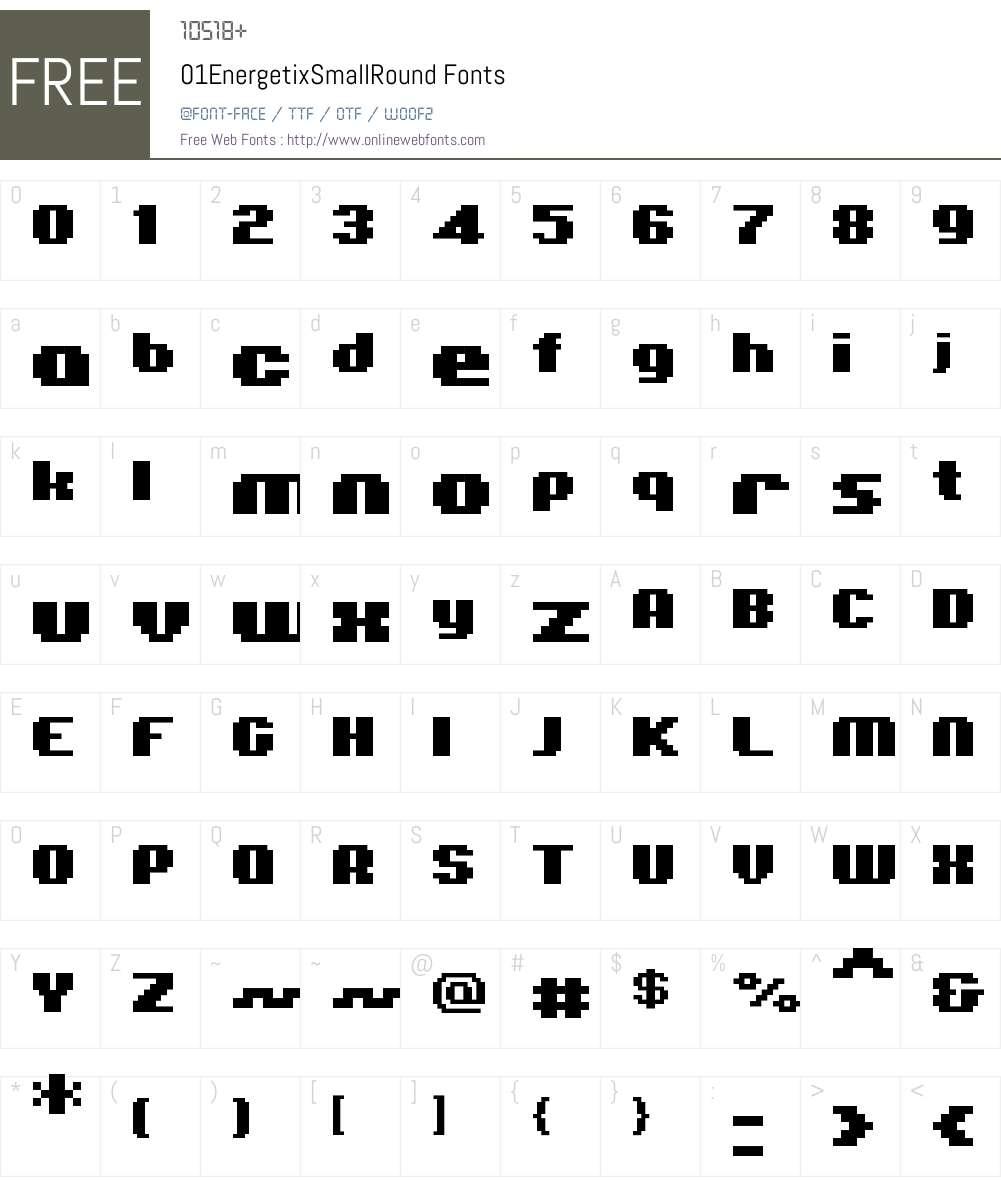 01EnergetixSmallRound Font Screenshots