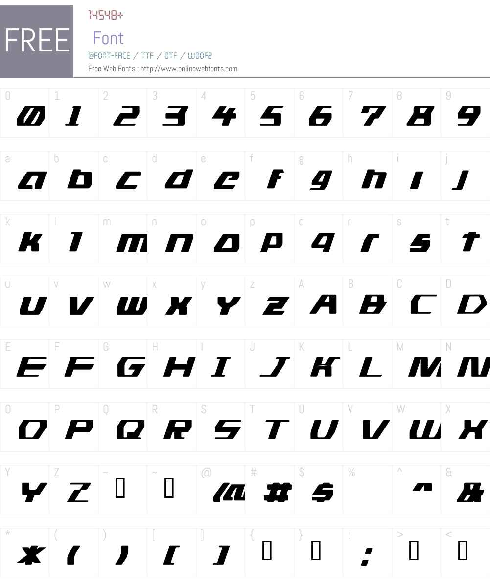 DS man Font Screenshots