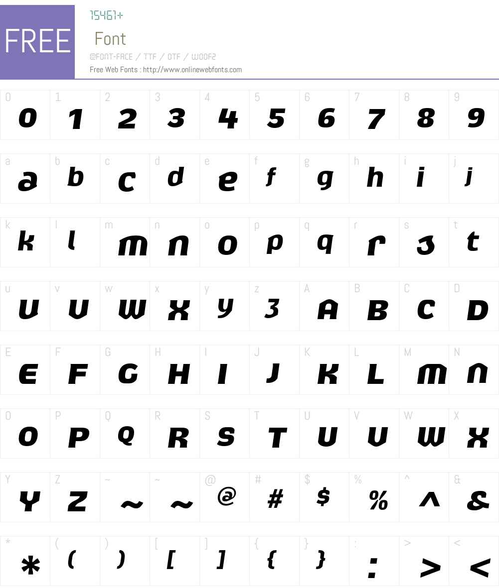 Exert Font Screenshots