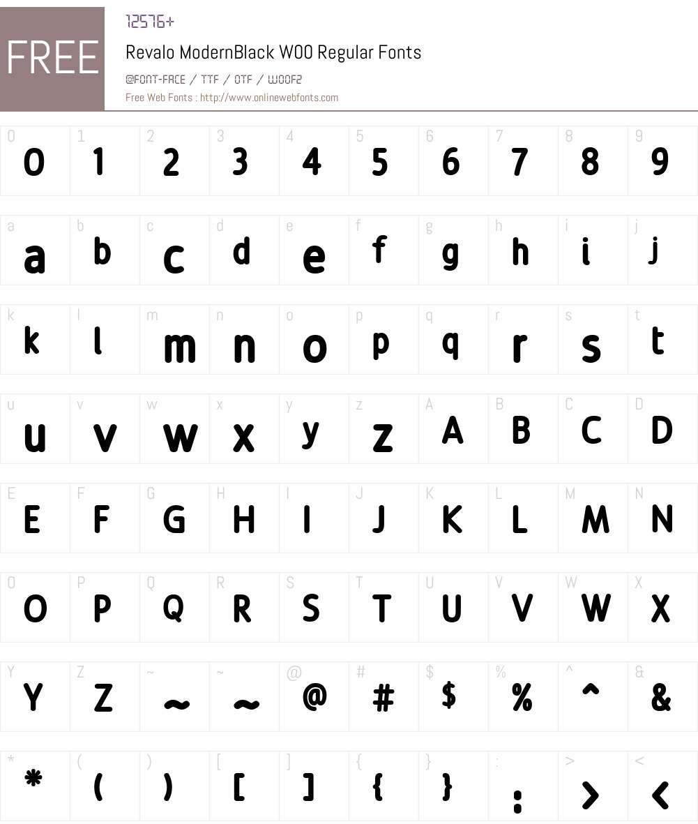 Revalo ModernBlack Font Screenshots