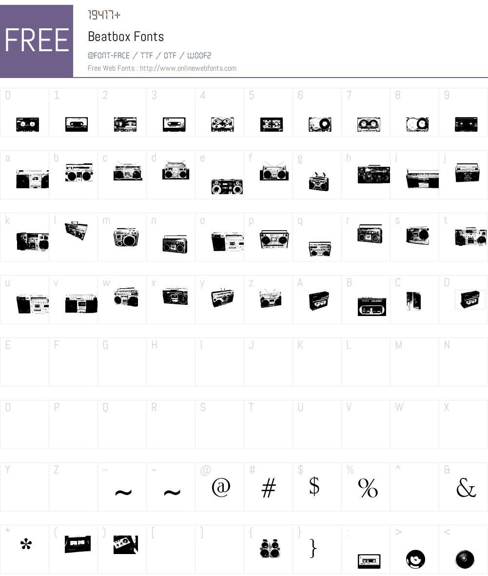 Beatbox Font Screenshots