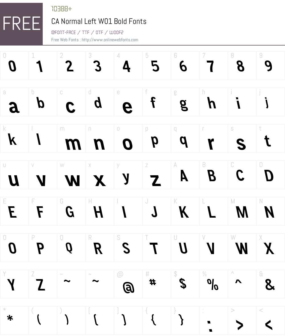 CANormalLeftW01-Bold Font Screenshots