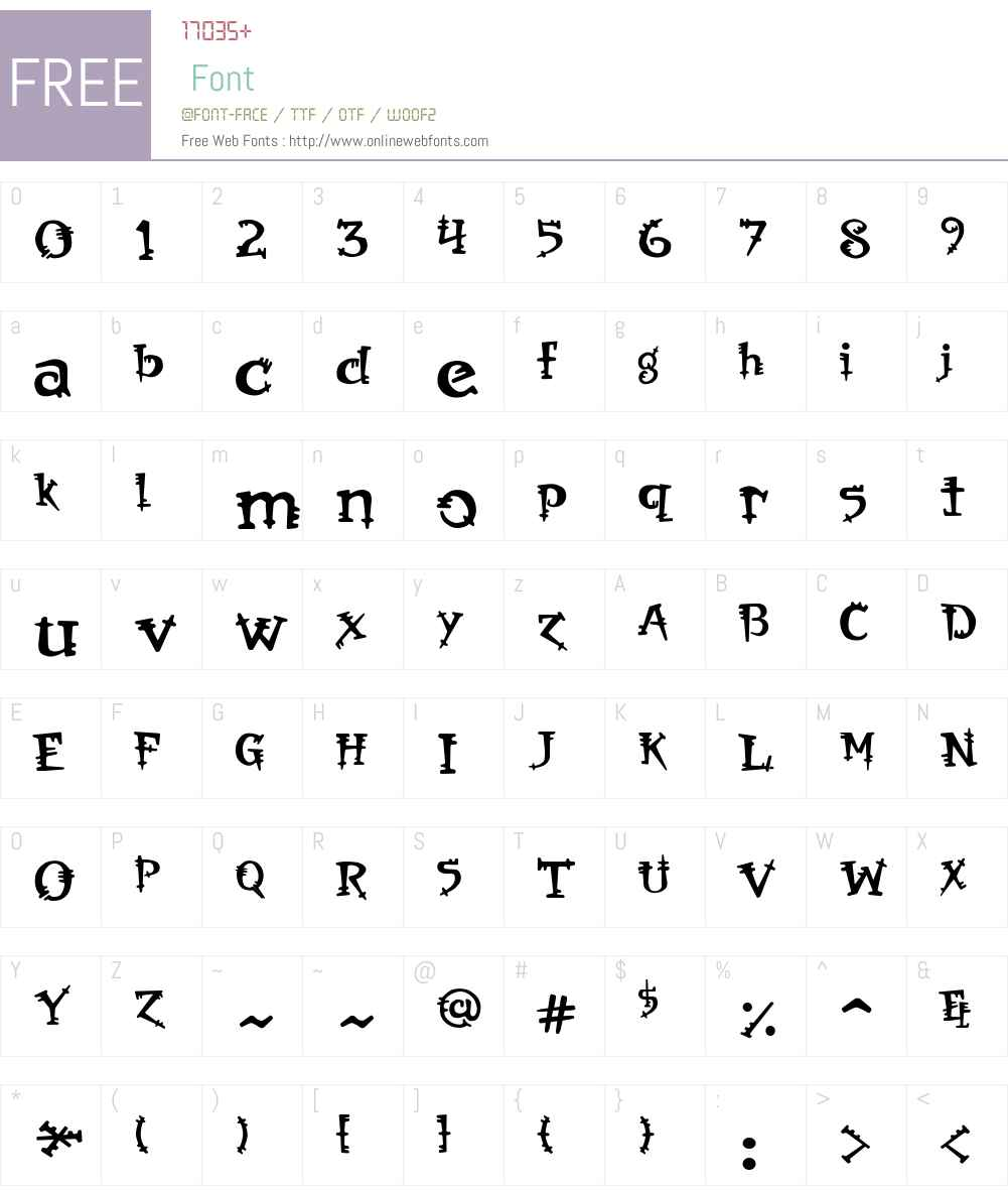 Orbus Font Screenshots