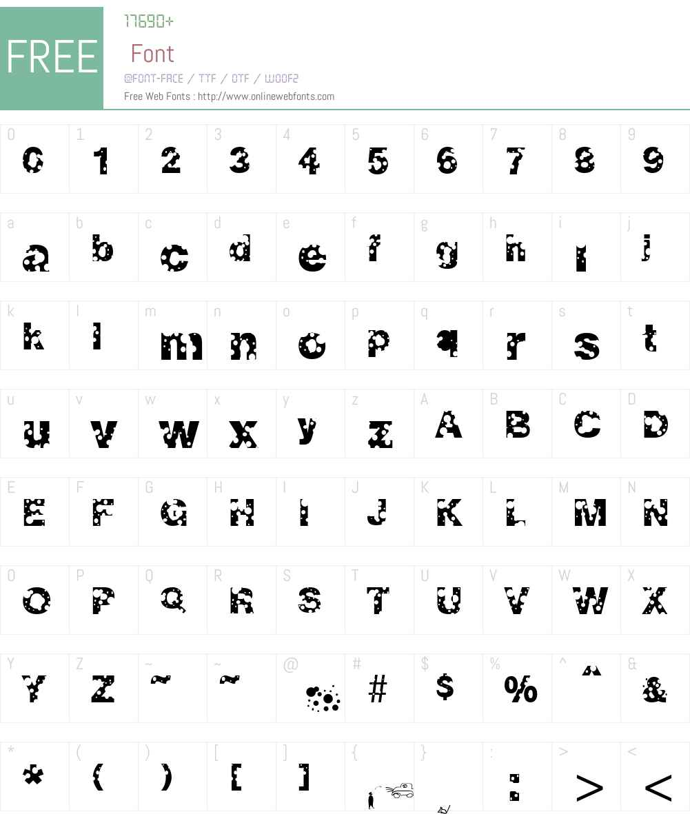 Emmenthaler Font Screenshots