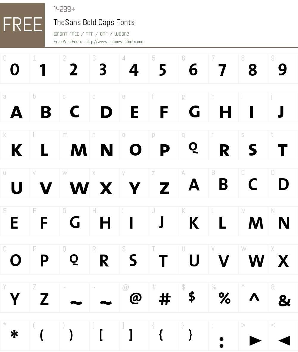 The Sans Bold- Font Screenshots