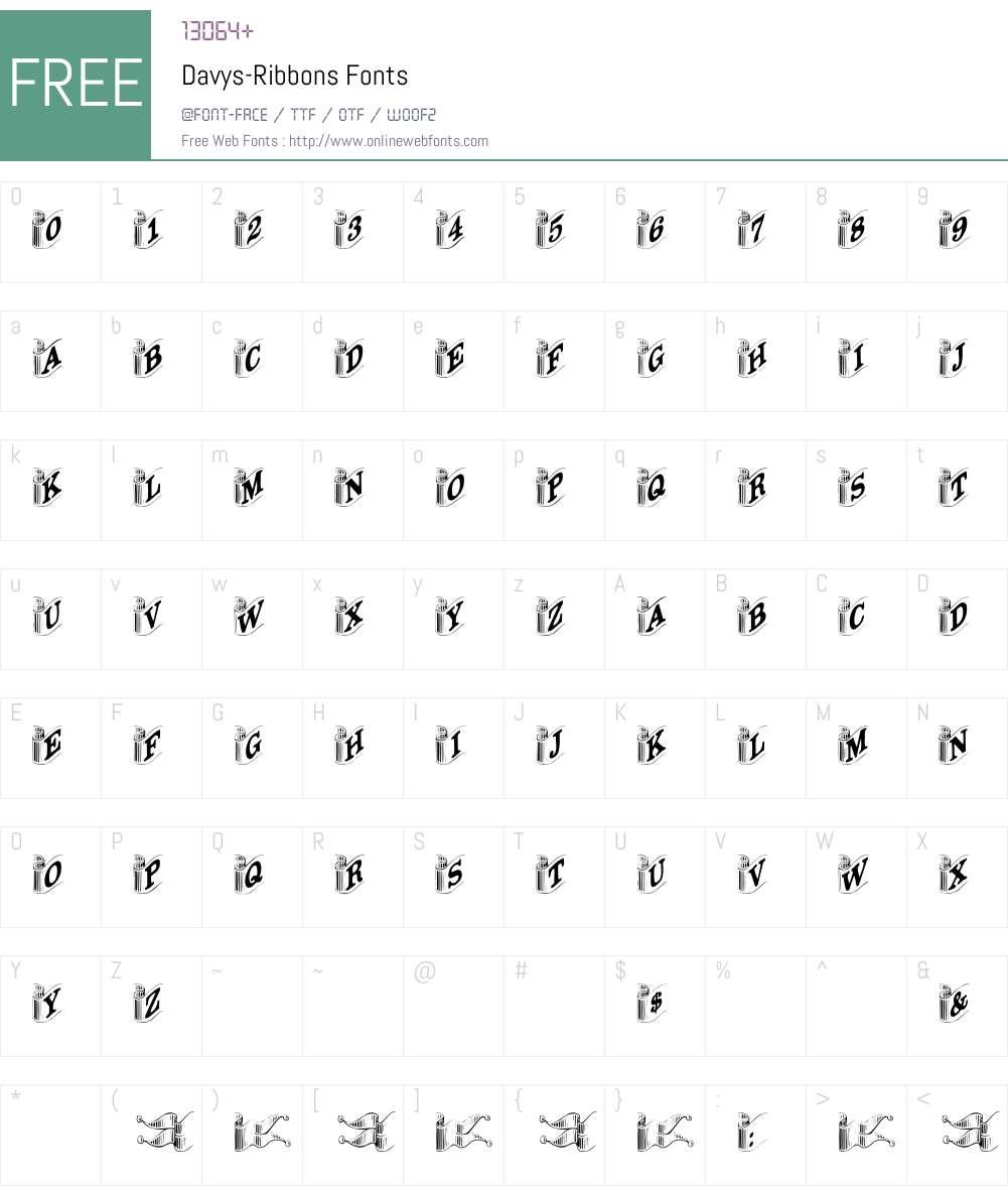 Davys-Ribbons Font Screenshots