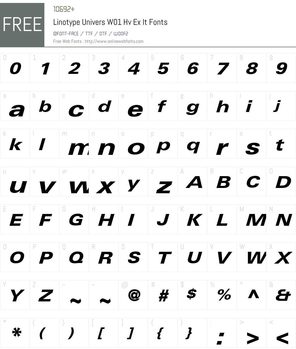 LinotypeUniversW01-HvExIt Font Screenshots