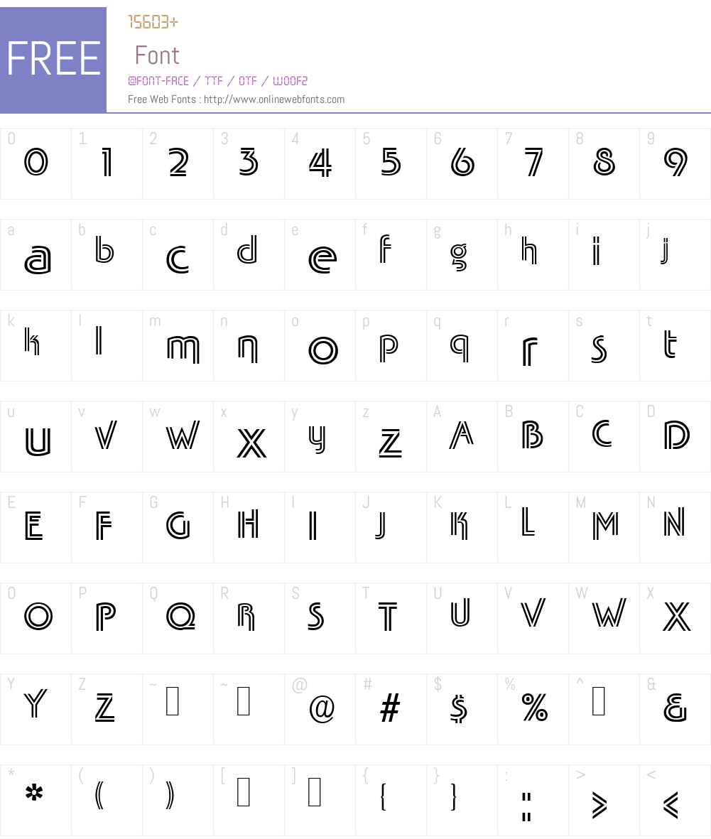 TabascoTwin Font Screenshots
