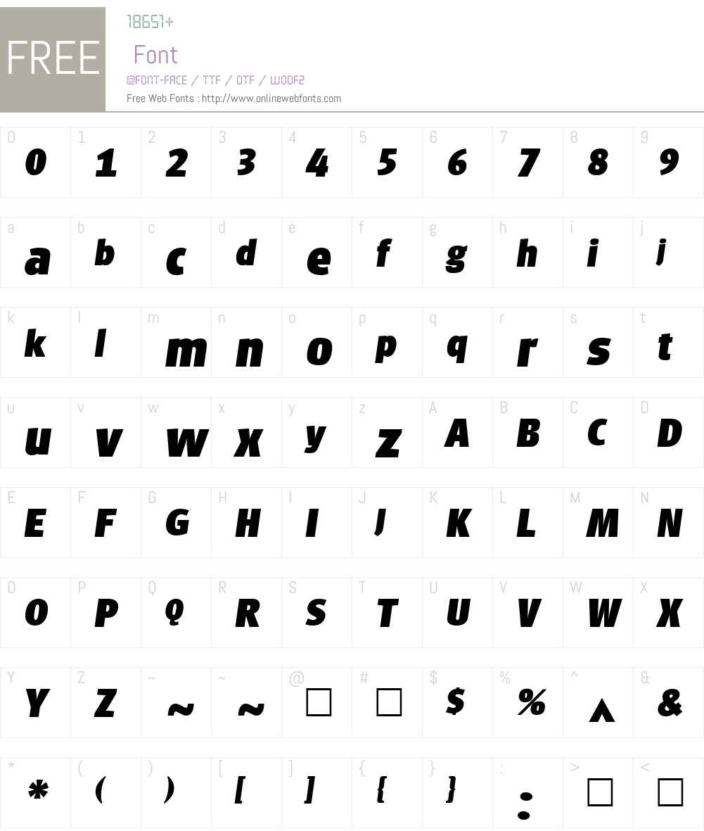 PalentItal Font Screenshots