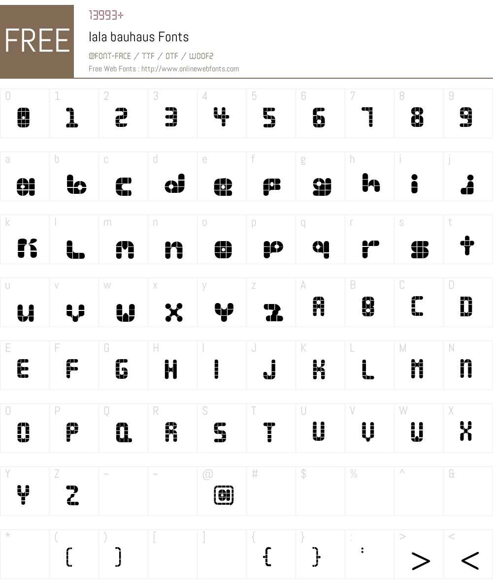 lala bauhaus Font Screenshots