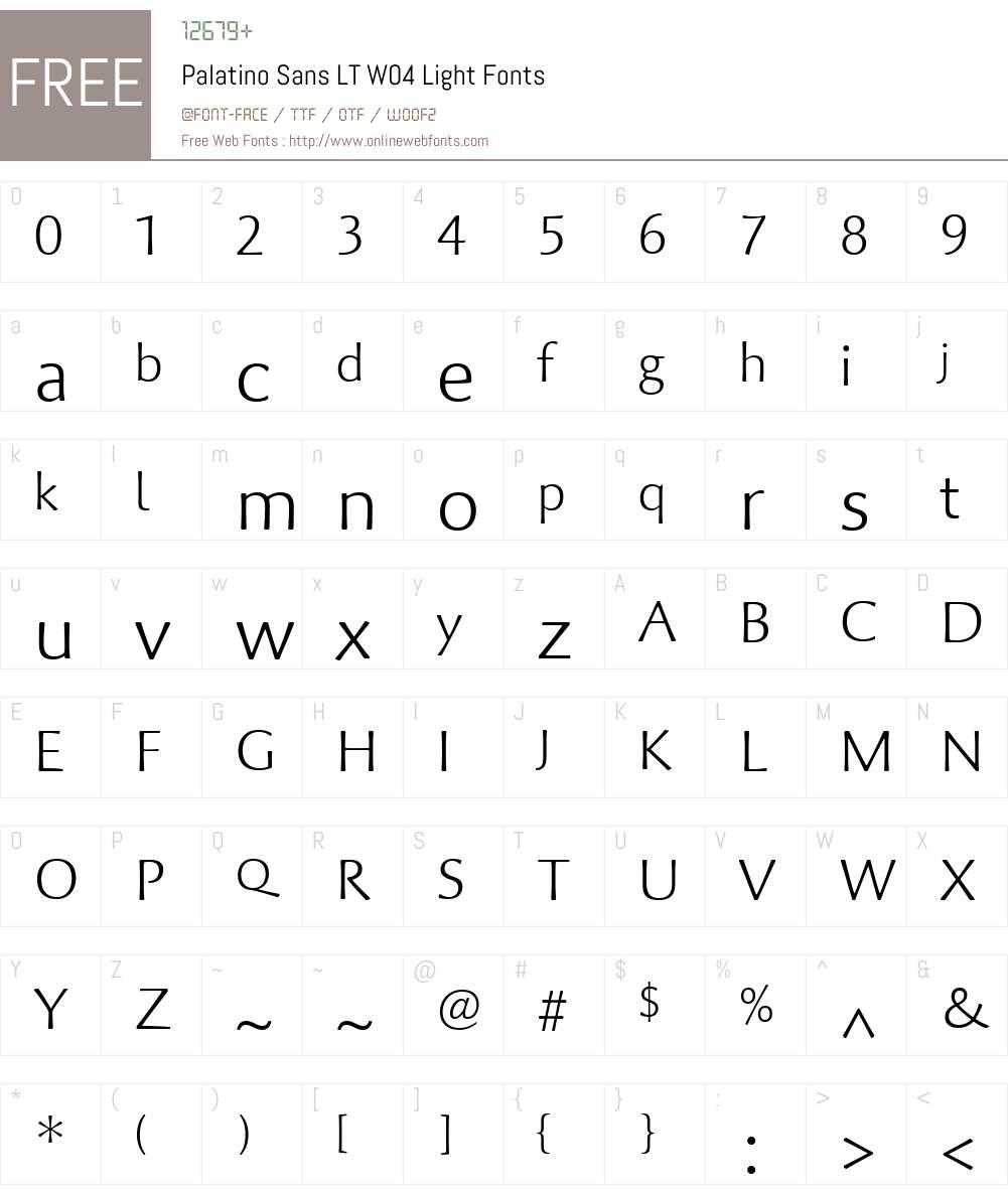 Palatino Sans Font Screenshots