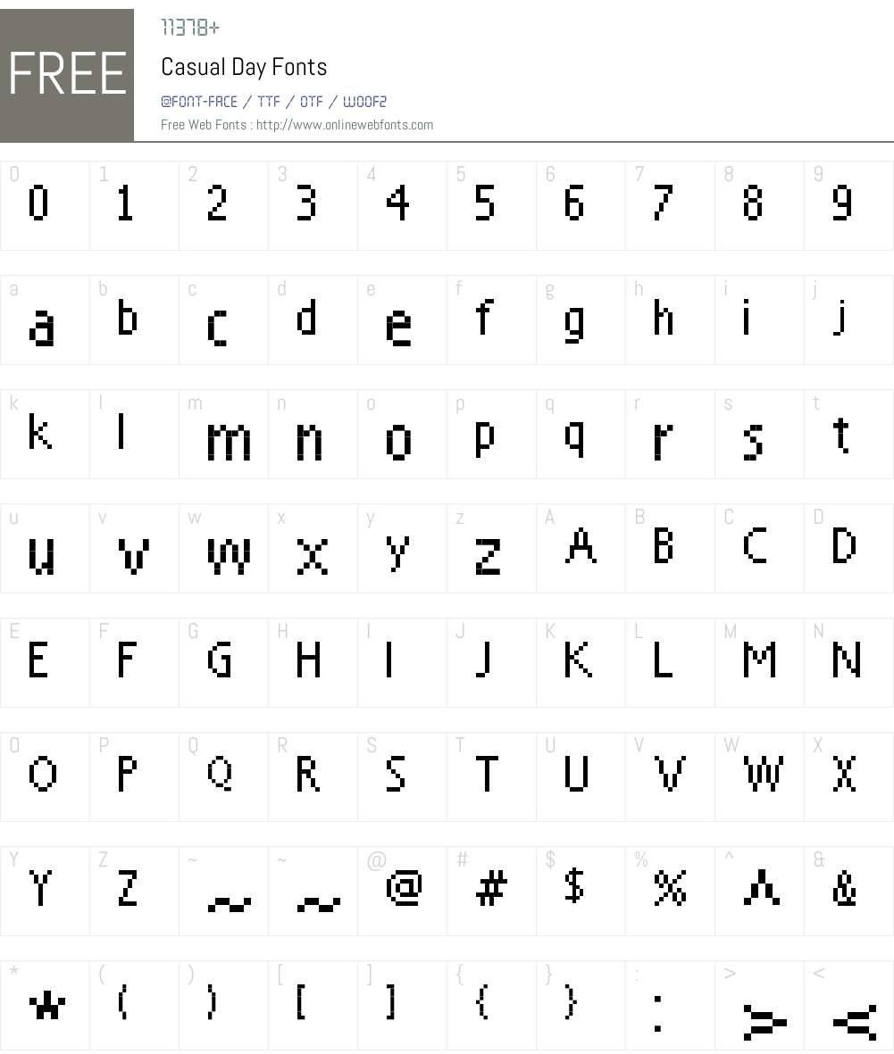 Casual Day Font Screenshots