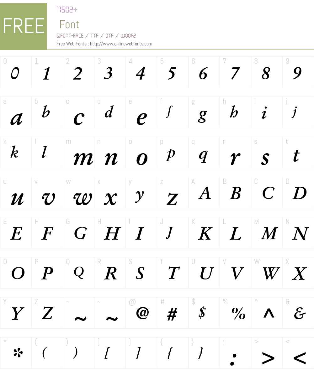 Stempel Garamond LT Pro Font Screenshots