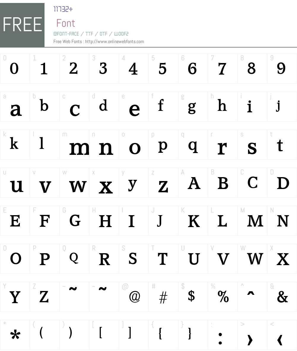 AccoladeSerial Font Screenshots