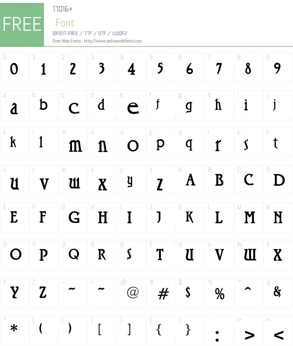 Rossano Font Screenshots