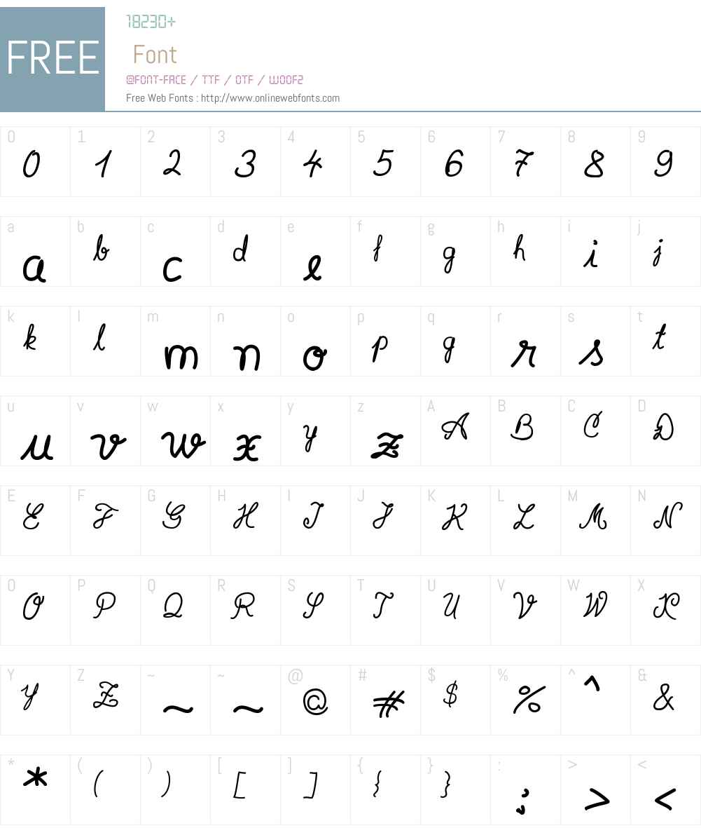 Syera InLine Font Screenshots