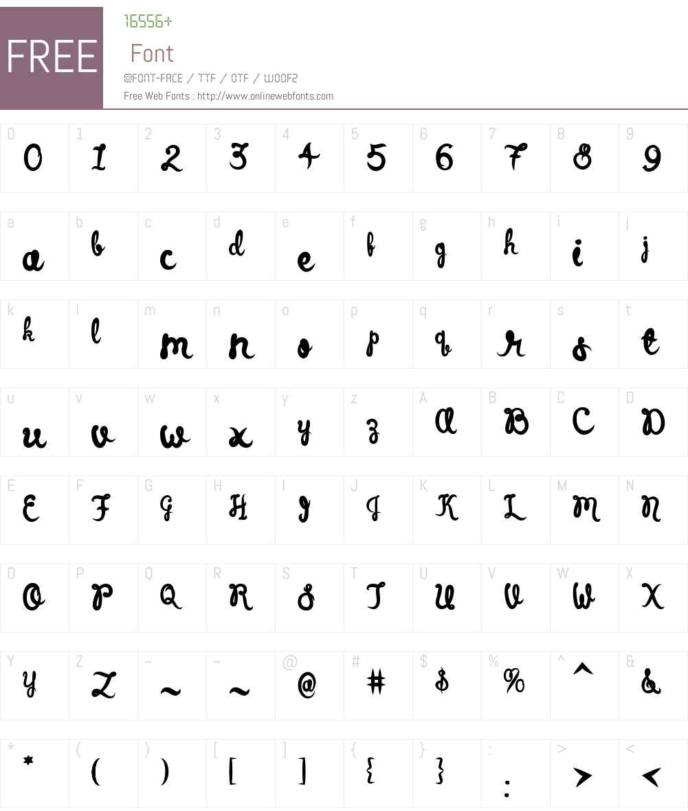 ElizabethScriptW00-Regular Font Screenshots