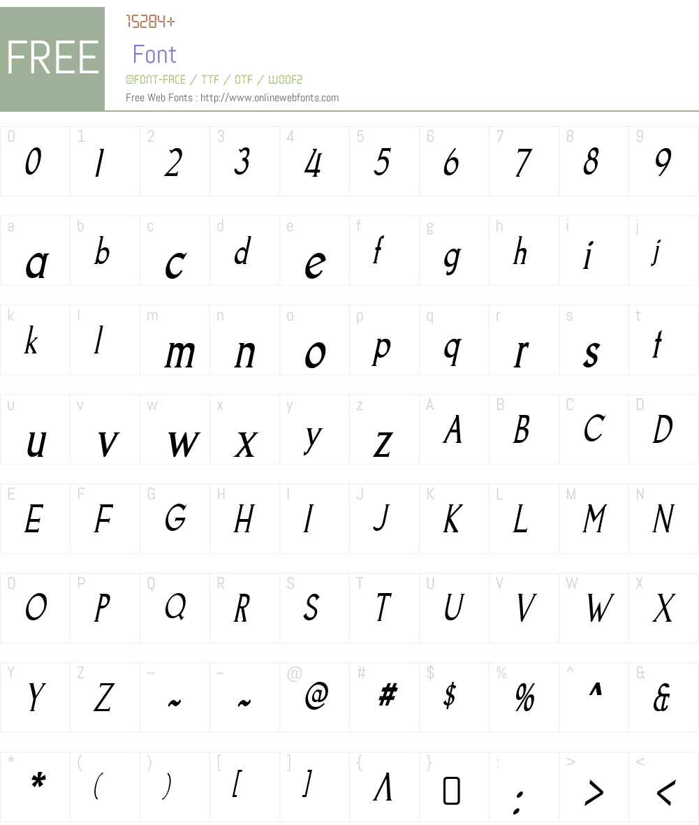 GoodfishW90-Italic Font Screenshots