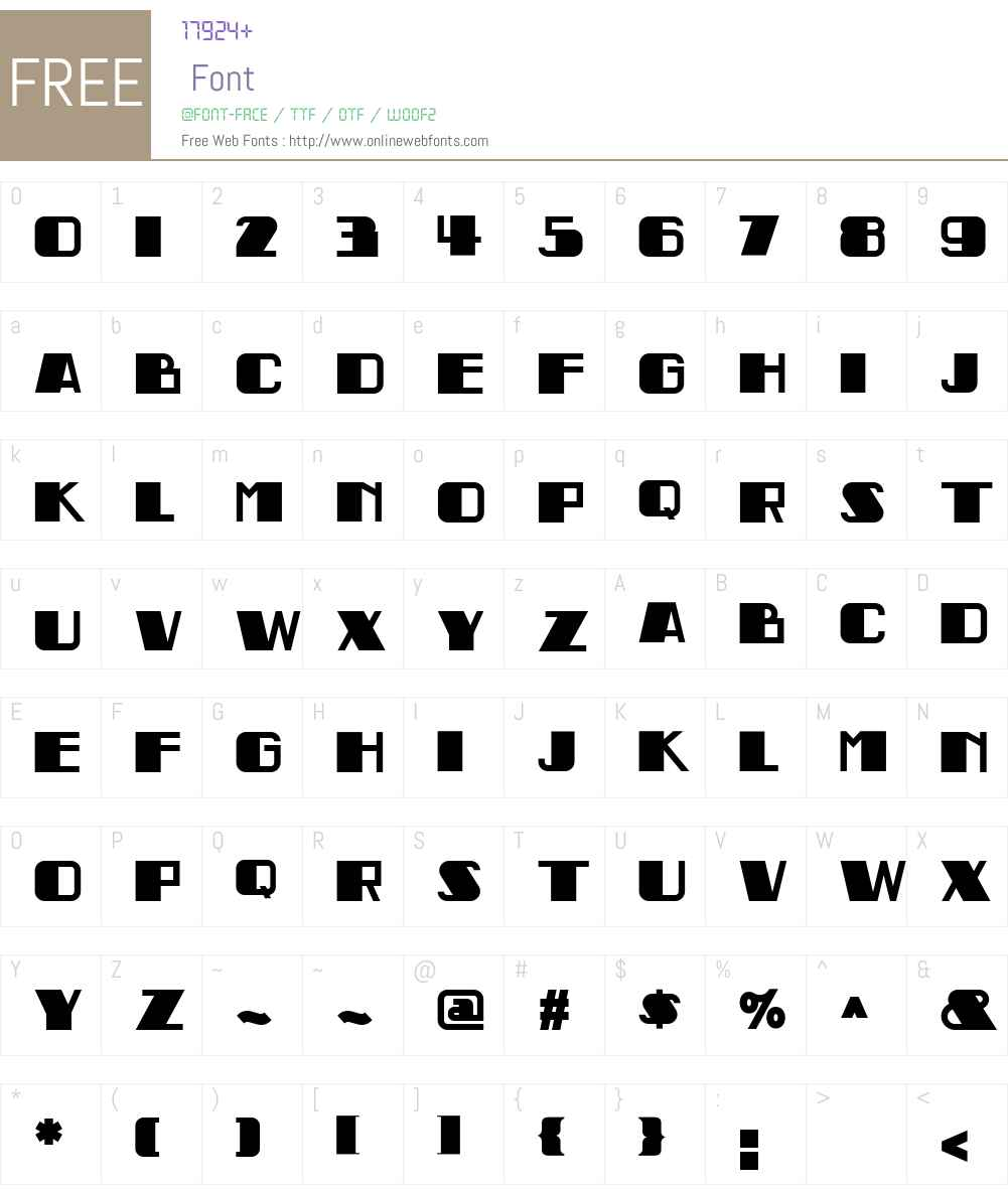 Indochine NF Font Screenshots