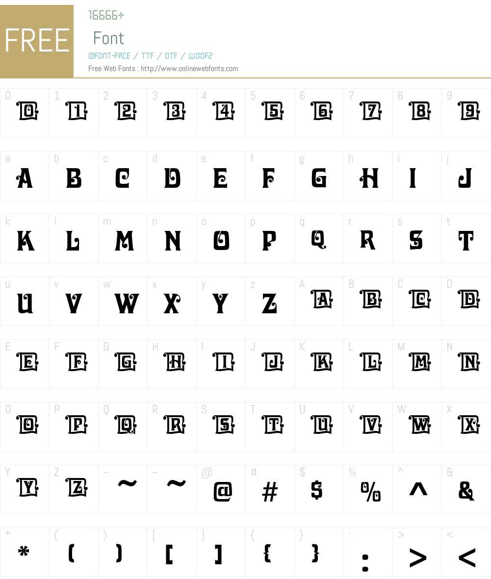 DavidaIniD Font Screenshots
