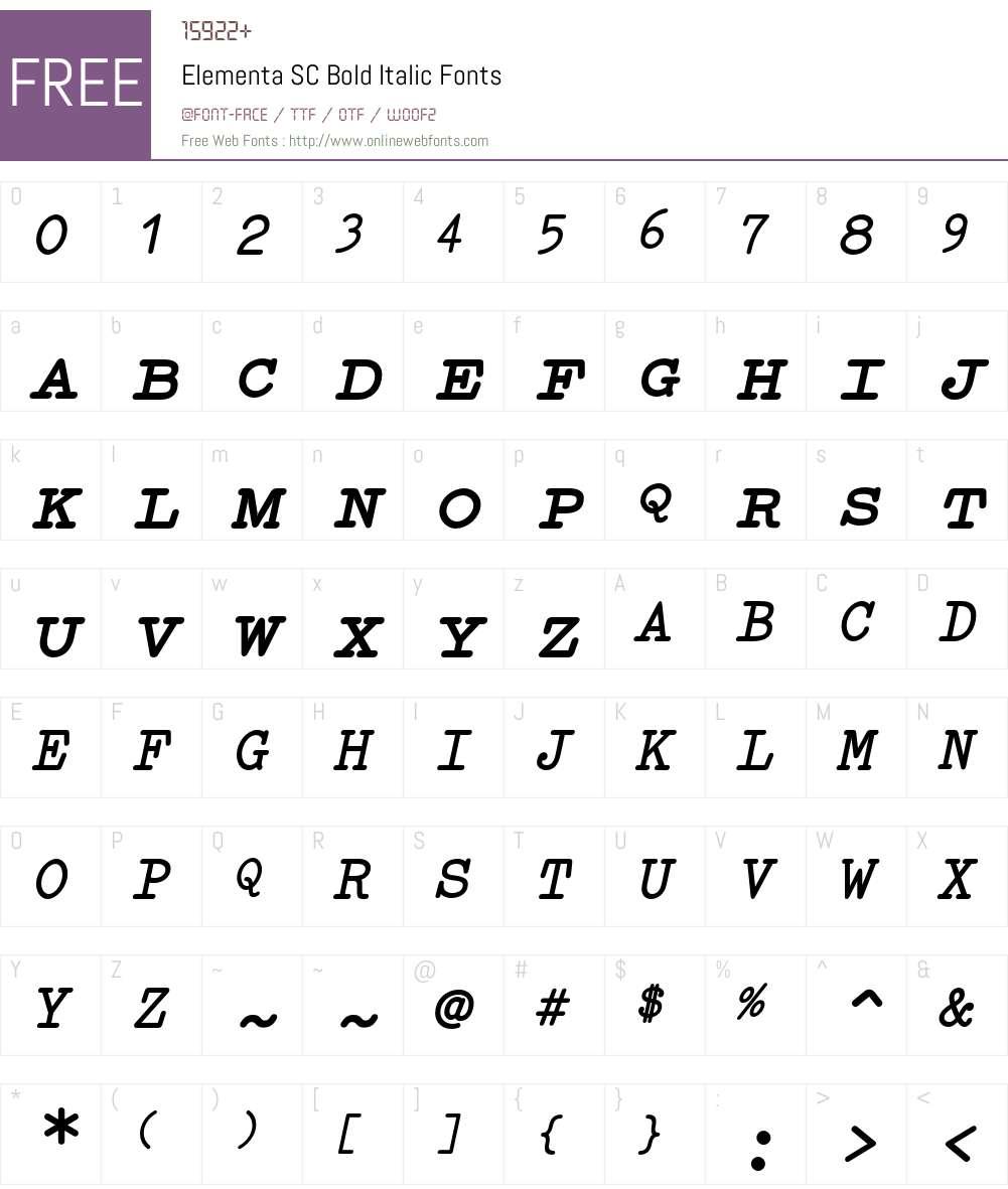 Elementa SC Font Screenshots