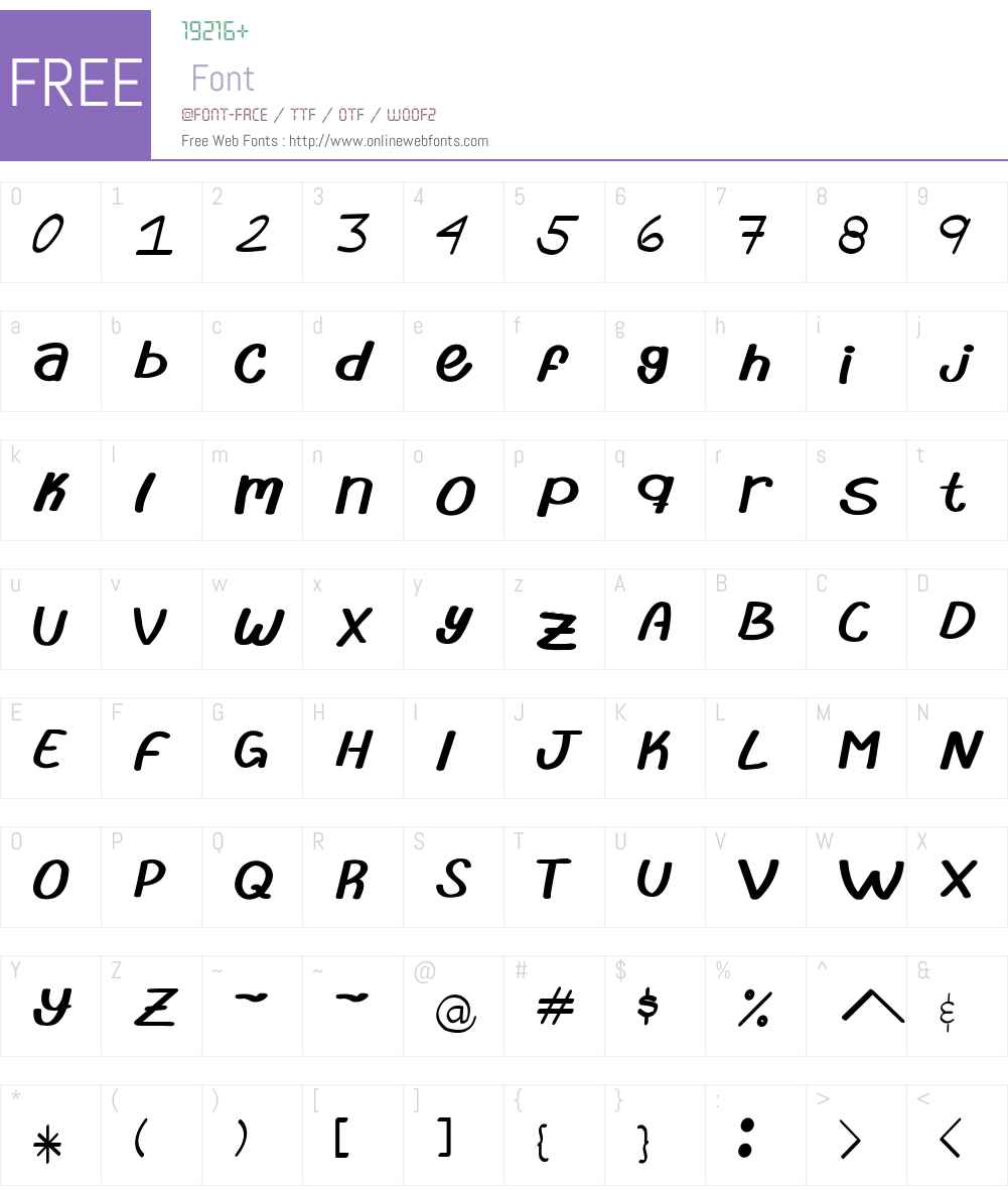 abrila Font Screenshots