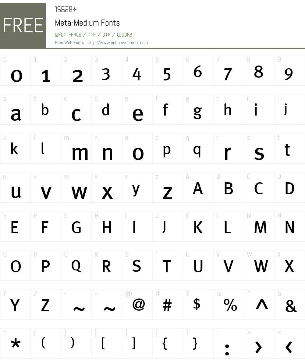 Meta-Medium Font Screenshots
