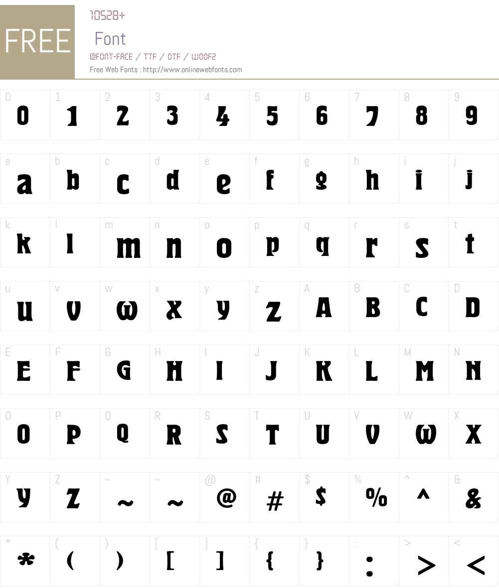HeroldC Font Screenshots