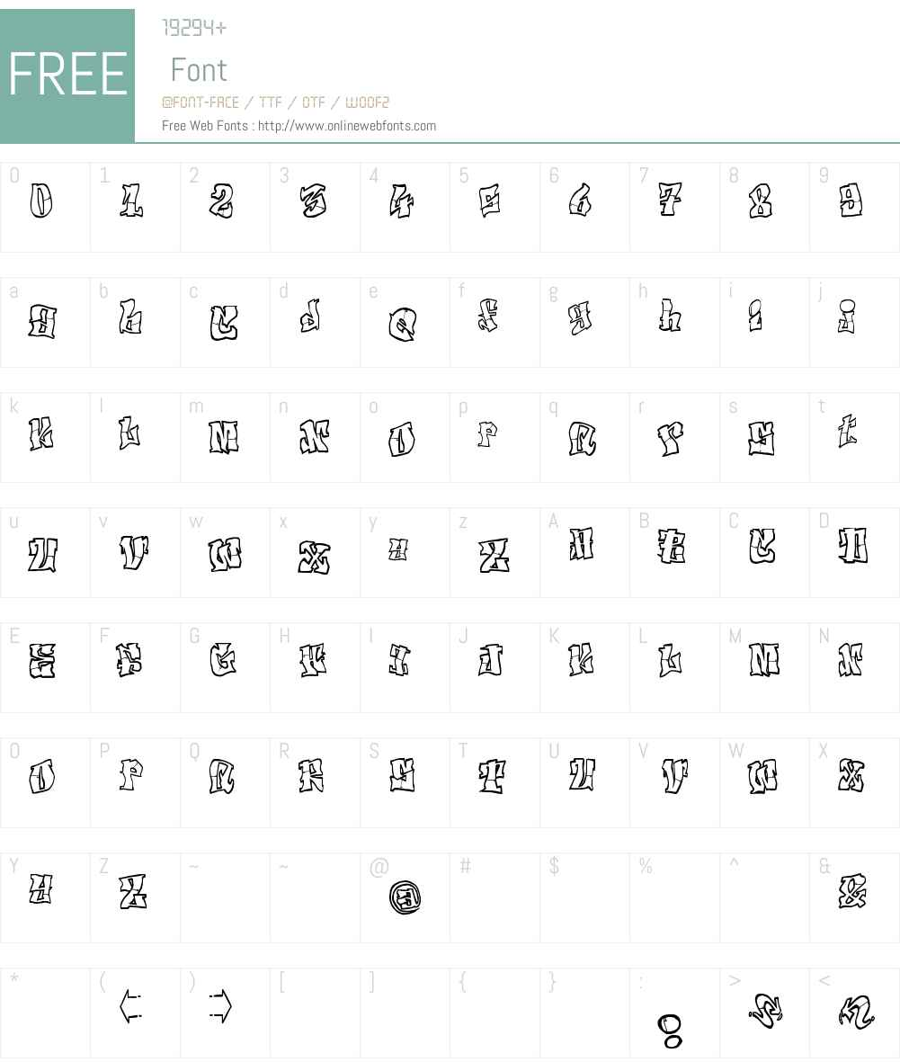 El&Font Tag! Font Screenshots