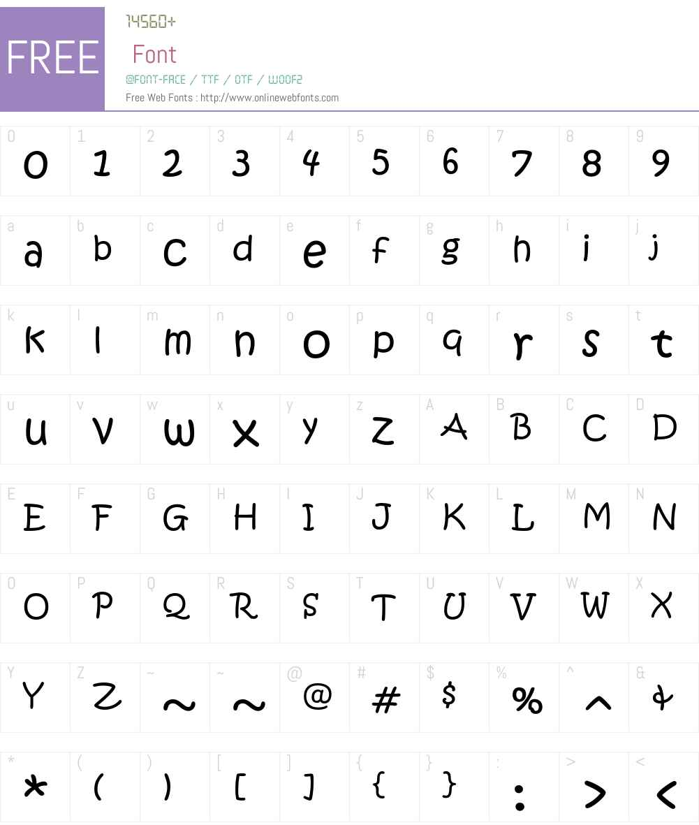 KristenITC Font Screenshots