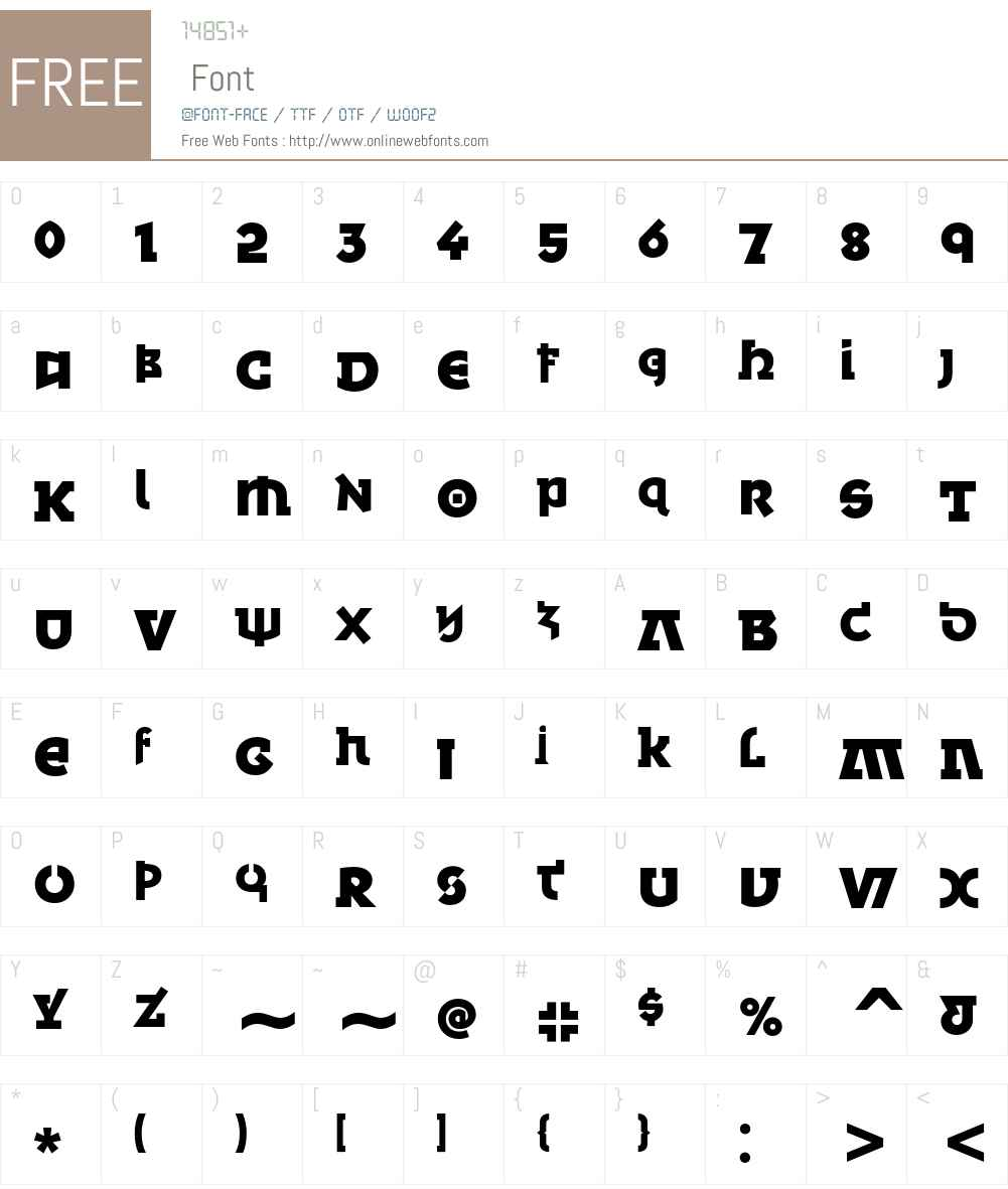 Minska ITC Font Screenshots