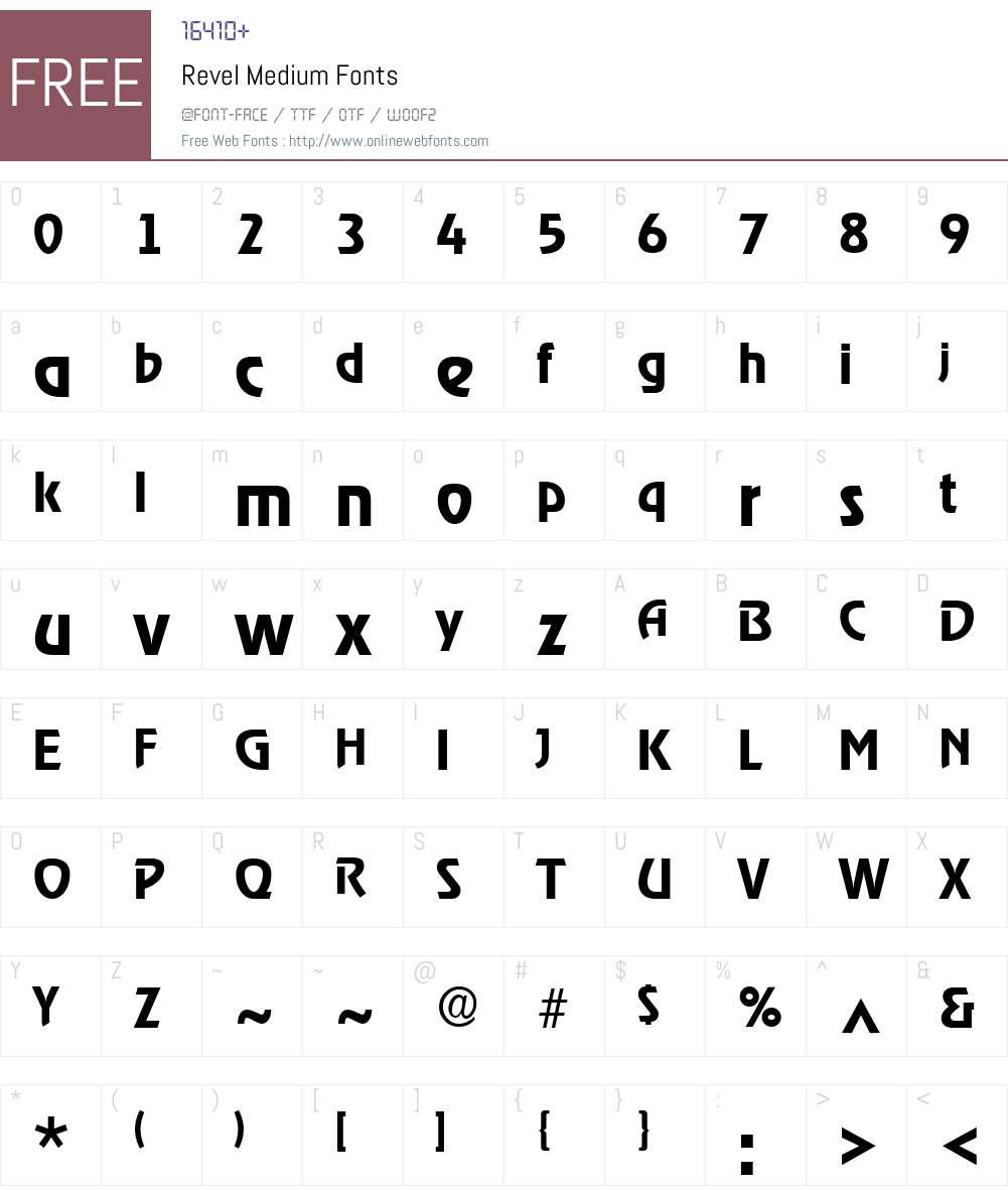 Revel Medium Font Screenshots