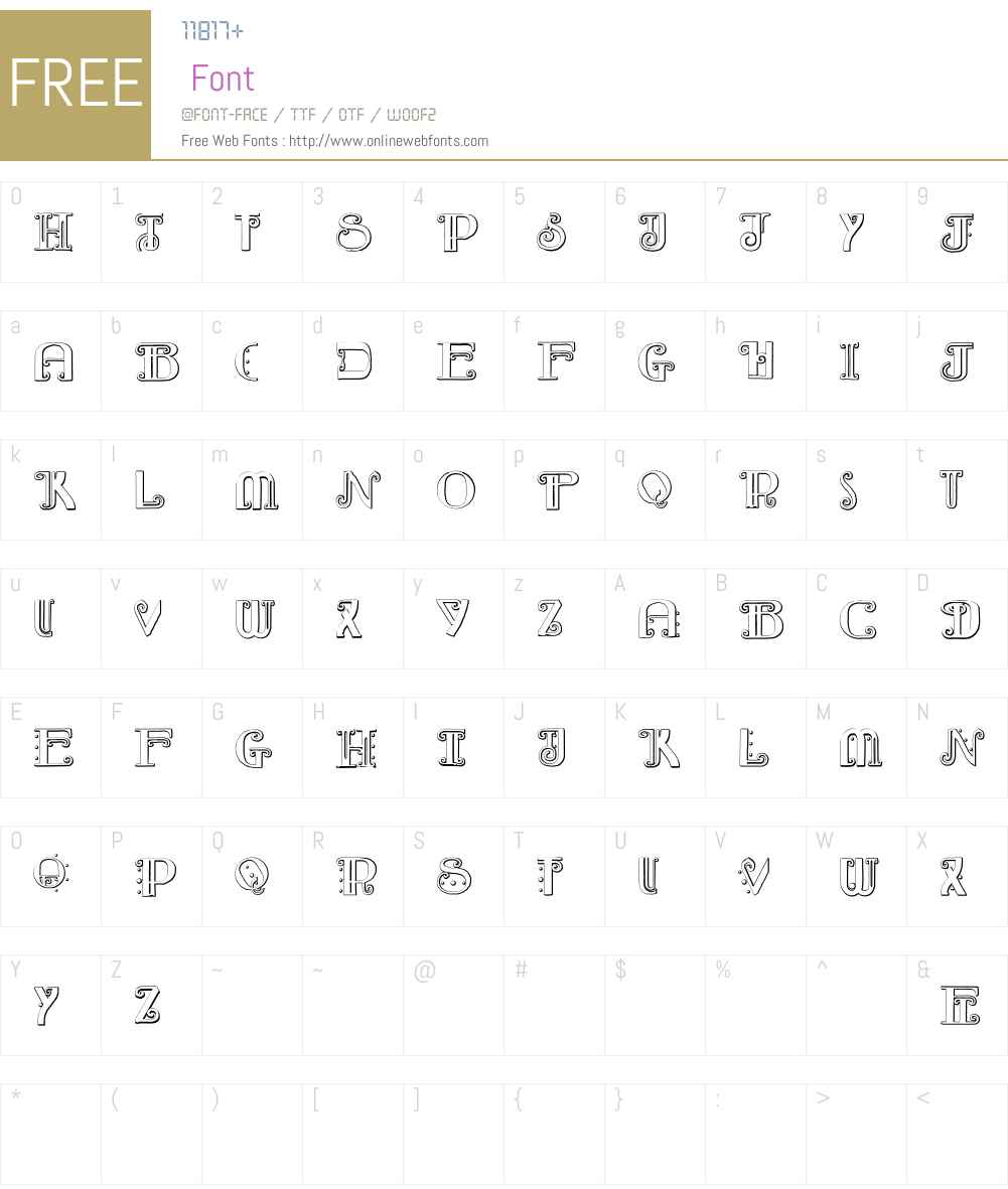 Rebimboca Beveled Font Screenshots