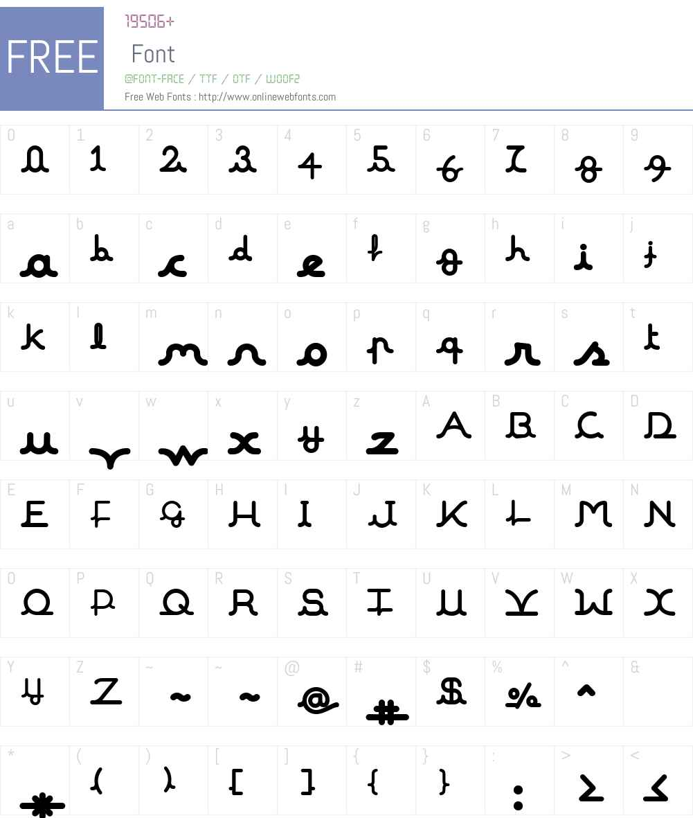 MalineW00-Black Font Screenshots