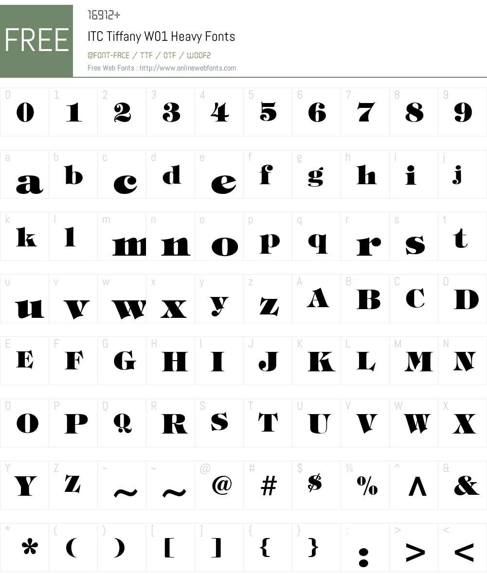 ITCTiffanyW01-Heavy Font Screenshots
