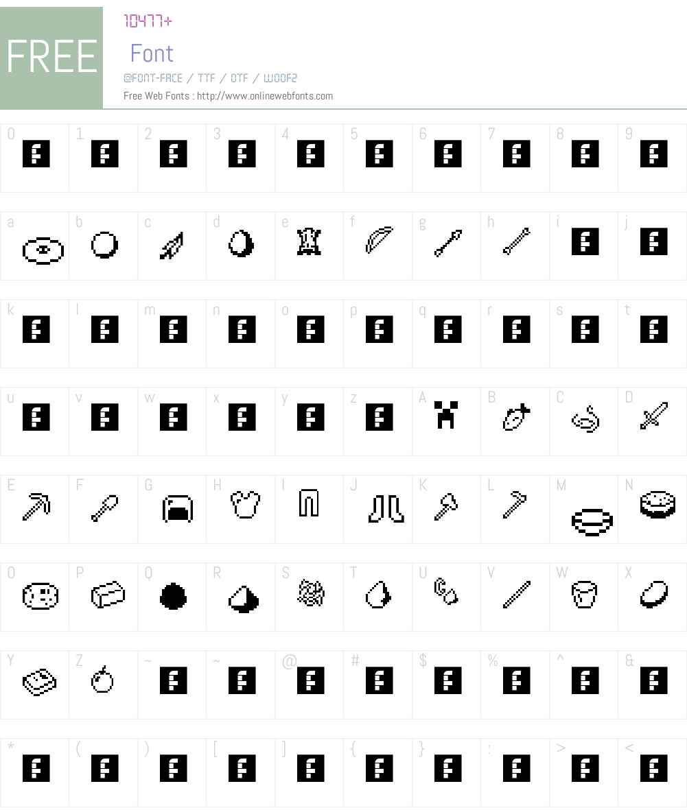 Craft Font Screenshots